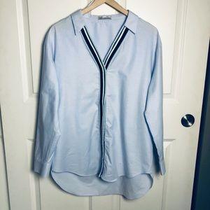 Zara TRF Collection Poplin Twill Tunic Shirt S